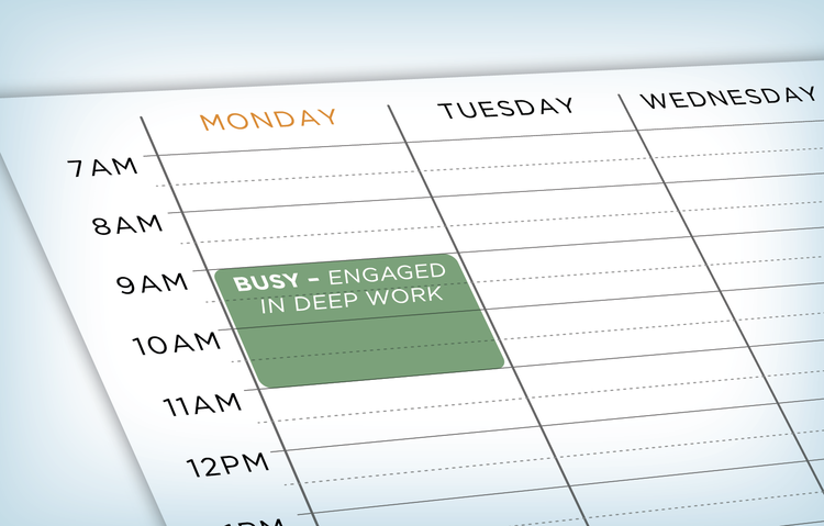 """image of a schedule with a marked calendar """"busy"""""""
