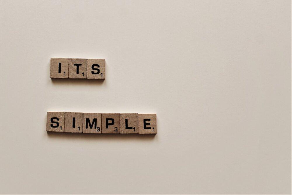 it's simple written in scrabble letters