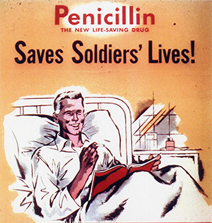 World War II penicillin promotional poster