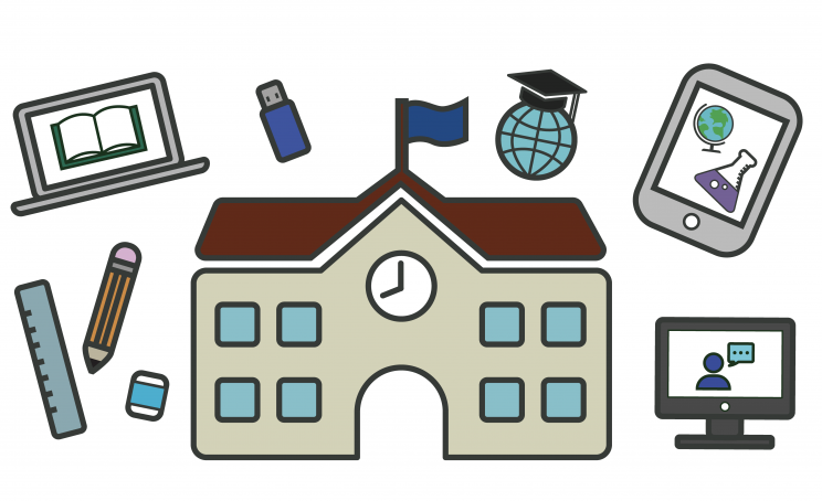 School technology icons