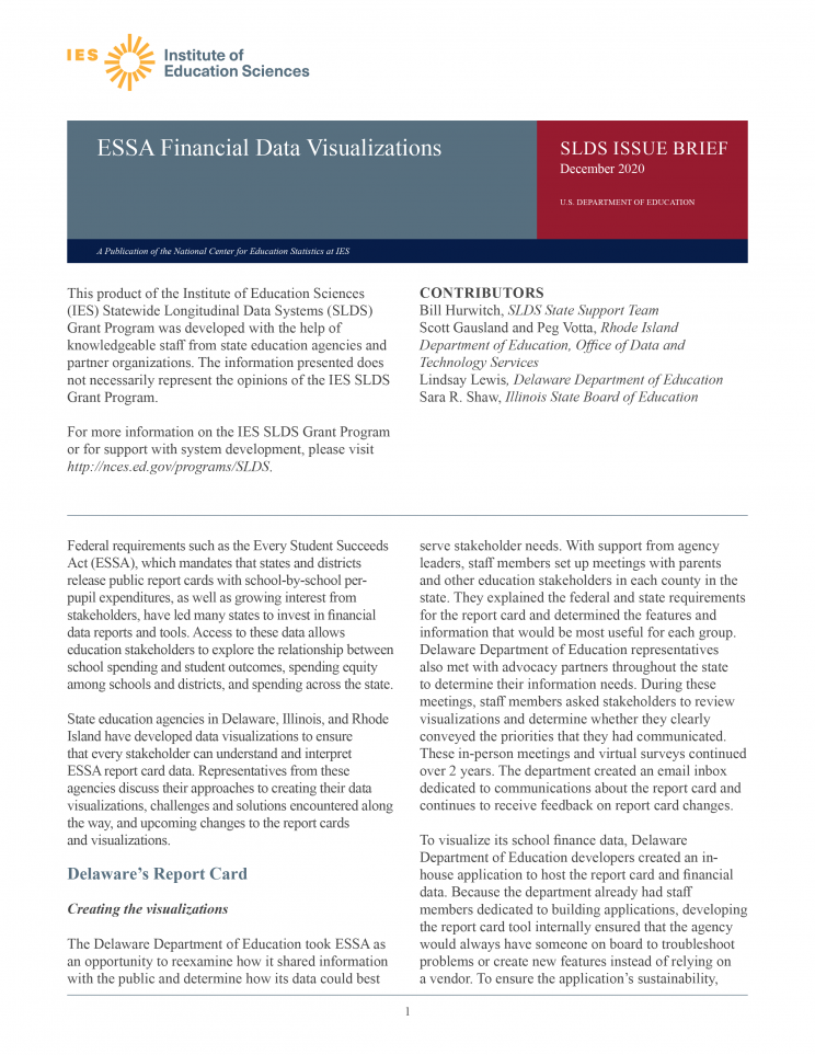 SLDS Issue Brief ESSA Financial Data Visualizations