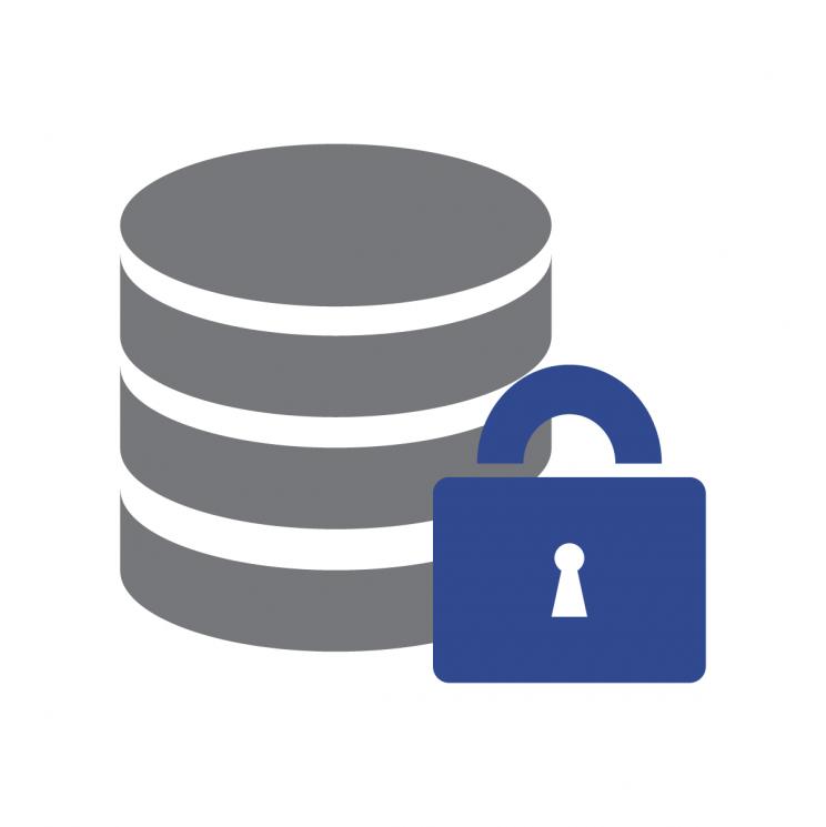 padlock over data